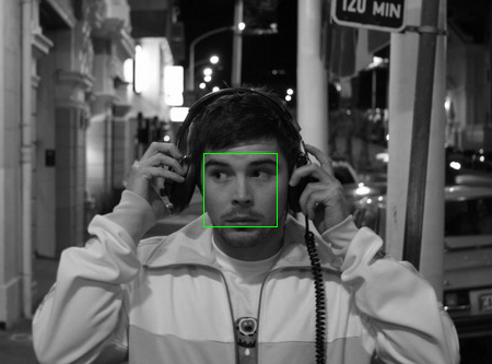 Face detection test